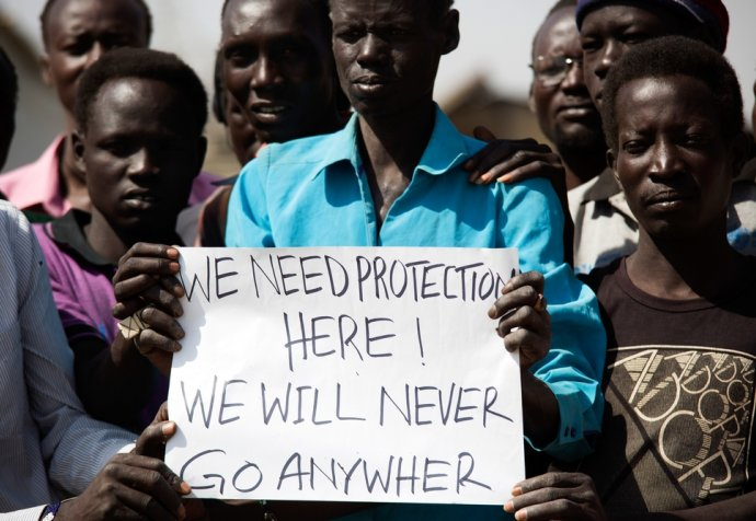 Protection of Civilians (PoC) site in Malakal